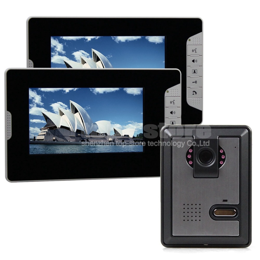 DIYSECUR 7 inch Wired Color Video Door Phone Intercom Home ...