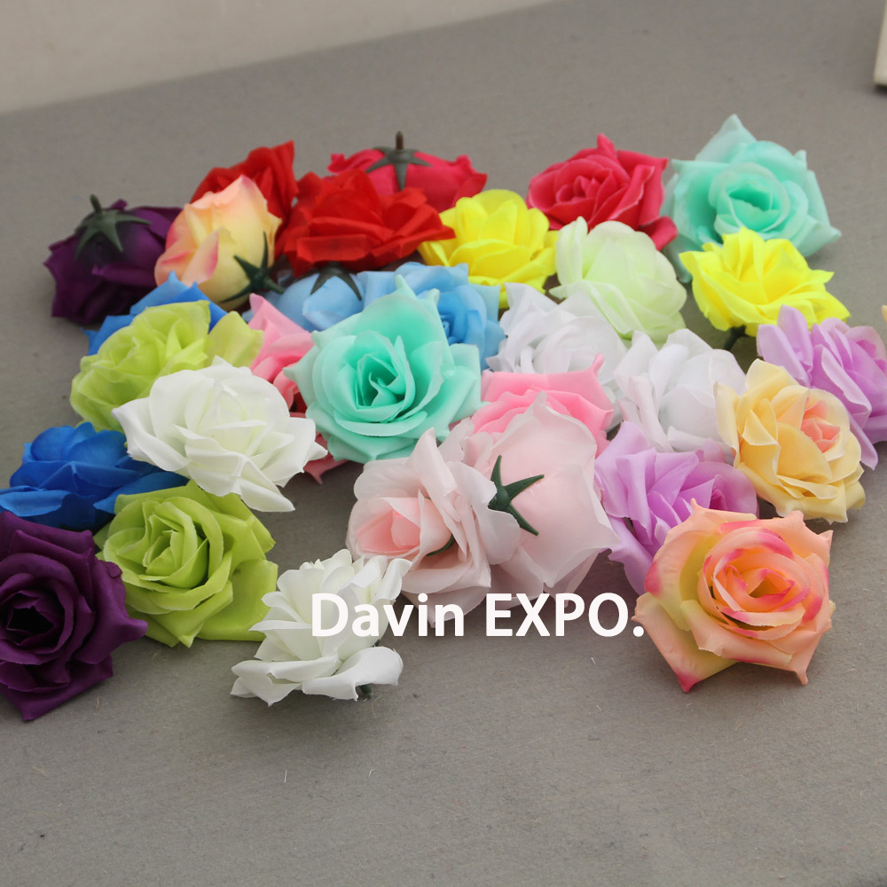 10MM Bright Neon Lime Green Rose Applique! 100 Gorgeous Satin Ribbon Roses