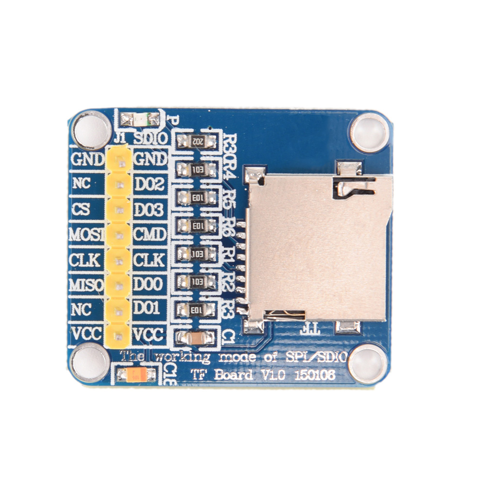 Micro SD Card Mini TF Card Reader Module SPI Interfaces With Level Converter Chip For Arduino Micro SD Card Module