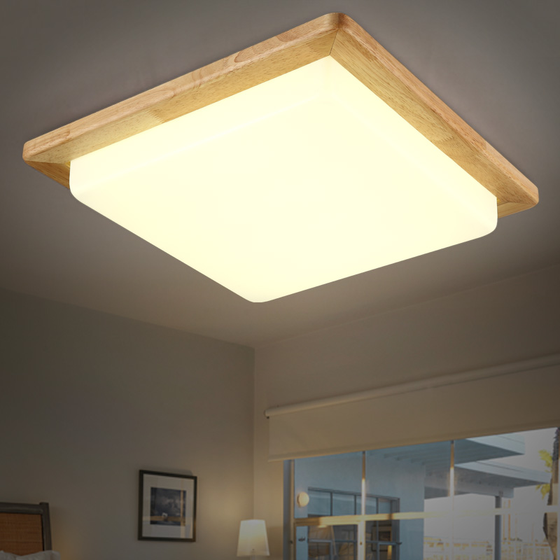 Solid Wooden led Ceiling lamp Nordic Japanese lighting hall balcony porch lamp square wood logs  bedroom ceiling lamp ZASolid Wooden led Ceiling lamp Nordic Japanese lighting hall balcony porch lamp square wood logs  bedroom ceiling lamp ZA