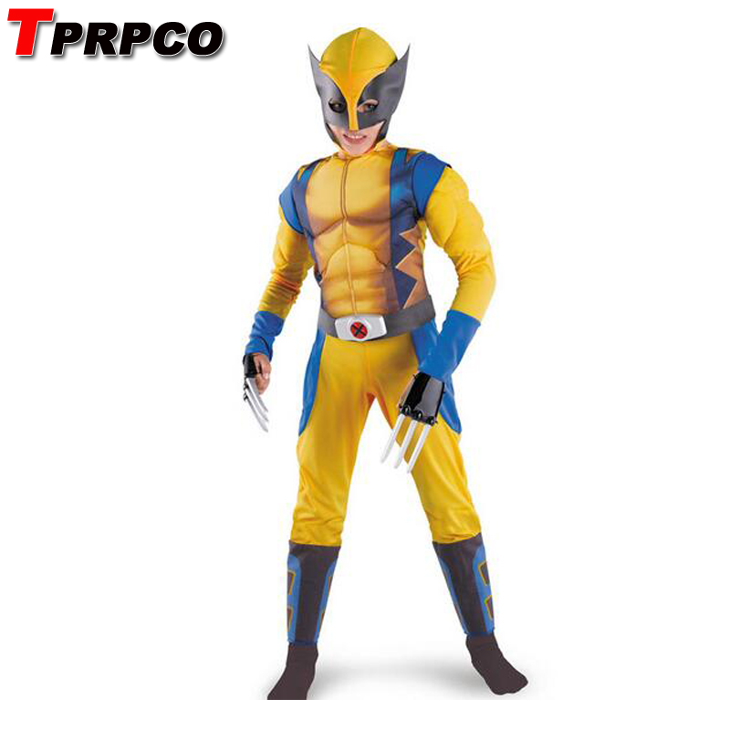 TPROCO Boys X-man Logan Origins Marvel Superhero Halloween Costumes Kids Carnival Party Performance Cosplay Clothing NL212