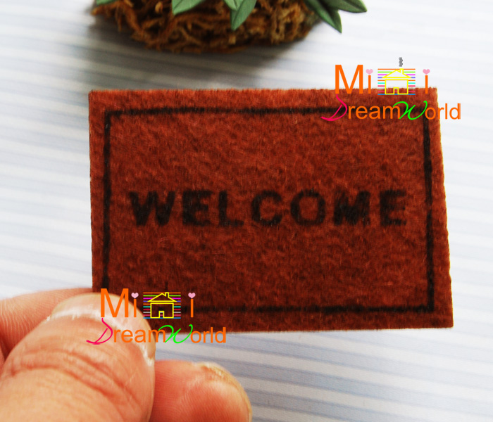 Mini dollhouse Mini furniture accessories for new carpet mats WELCOME