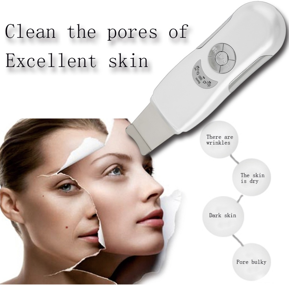 2017 New Deeply Face Skin Clean tool Ultrasonic Face Skin Pore Cleaner Device Blackhead Removal Device Peeling Shovel Exfoliator mythos clean skin купить оптом