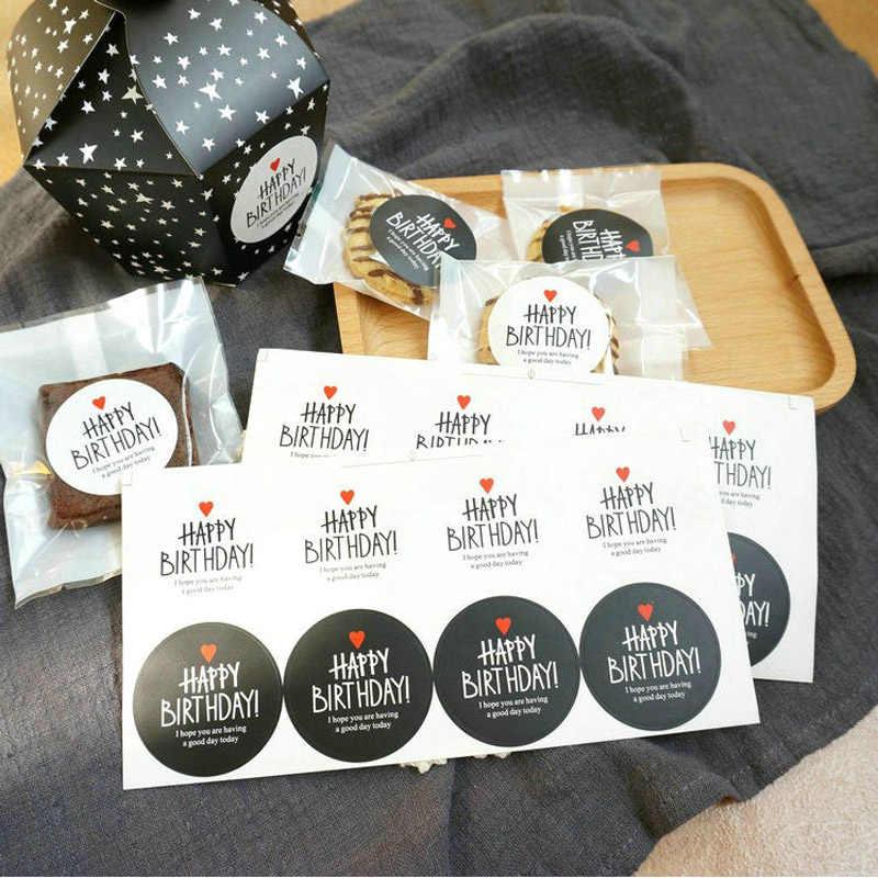 Leeiu 10 Sheets HAPPY BIRTHDAY Self Adhesive Kraft Seal Sticker Baking Gift Label Stickers Funny