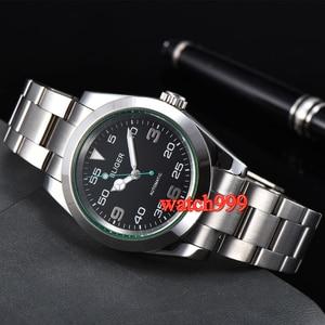 Image 5 - 40mm BLIGER Luminous Mechanical men watch Sapphire crystal  black dial Automatic mens Watch