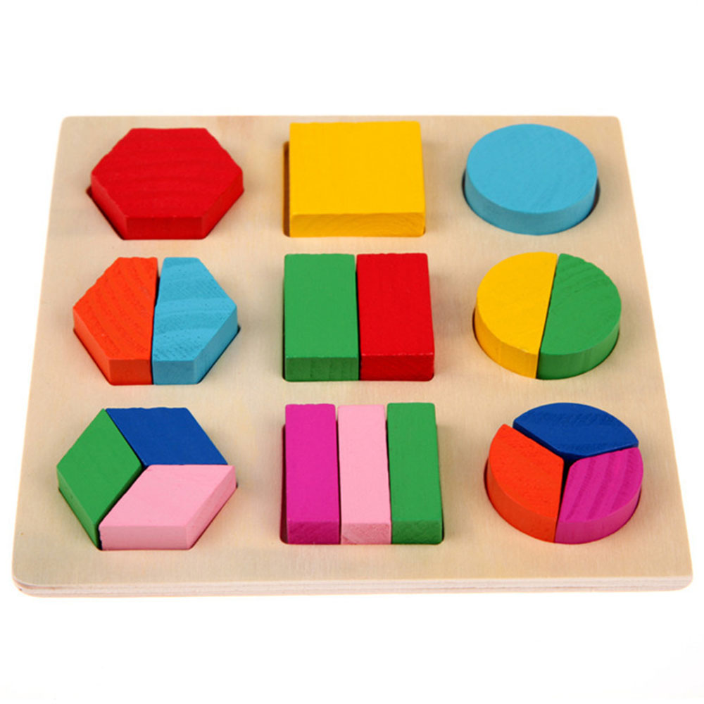 New Learning Education Montessori Materials Wooden Geometry Math Toy Puzzle Toys For Children IQ Educational Equipment Kids Gift