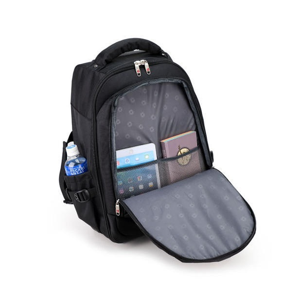 Men Business Travel Duffle Carry On Suitcase Wheels Computer Backpack  Rolling Luggage Trolley Travel Bag-in Travel Bags from Luggage   Bags on ... 6ef4a3498e80a
