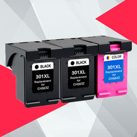 3PK Compatible 301XL Ink Cartridge Replacement for HP 301 XL for hp301 DeskJet 1050 2050 3050 2150 3150 1010 1510 2540 Printer