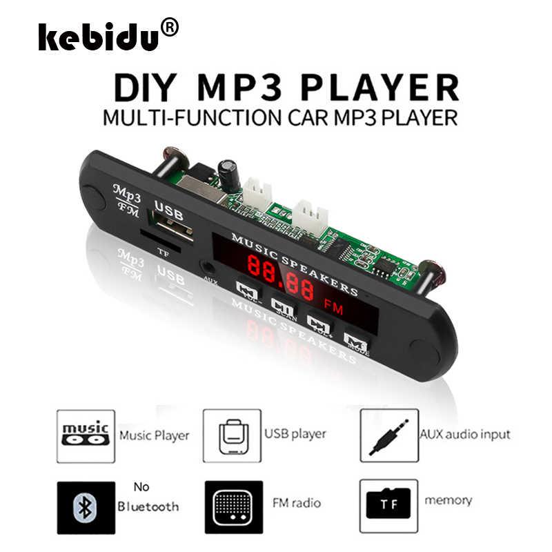 Kebidu Нет Bluetooth декодер плата модуль MP3 WMA WAV AUX 3,5 мм автомобильный аудио mp3-плеер USB TF FM декодер плата с пультом дистанционного управления