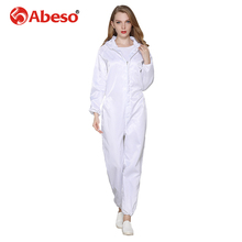 Abeso Work Overall Unisex Antistatic Dustproof Wear Resistant Work Clothing Workshop Electronics Food Factory Uniform A7260