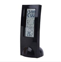 Alarm clock digital display transparent LCD multi-function thermometer electronic alarm