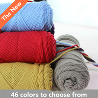 Wholesale Bamboo Baby Soft Yarn Crochet Cotton 1Roll X50g Knitted Hand Knit Wool Thick Yarn For