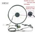 Когда-нибудь Водонепроницаемый Электрический велосипед конверсионный комплект 36v250w Ebike наборы задний поворот ступицы Мотор колесо с KT LCD5/...