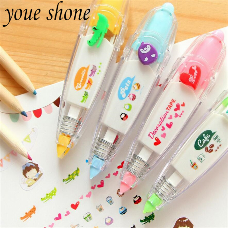 1Pcs Kawaii lovely creative pressing lace Correction Tape modification with DIY diary decoration student prize gift Stationery