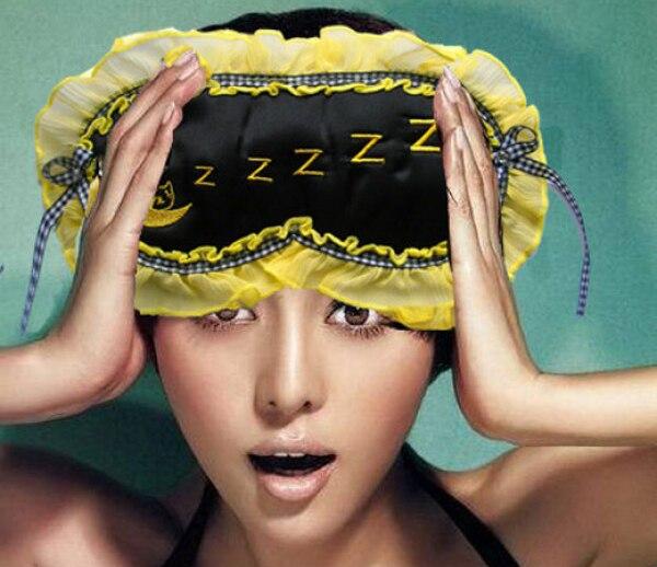 Schlaf-oberteile Intellektuell 100% Natürliche Silk Eye-maske Stickerei Reise Augenbinde Schatten Blinder Gelb Eine Größe Unterwäsche & Schlafanzug