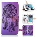 Телефон чехол BTD P007-5G, красивая мечта зрелище фиолетовый для iphone 5 5S 5 G бумажник чехол с окно слот