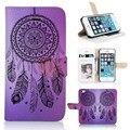 Caja del teléfono infinite BTD P007-5G, beautiful Dream Catcher púrpura para el iphone 5 5S 5 G cubierta de la carpeta con ranura ventana
