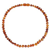 Amber Teething Necklace For Baby Unisex 13 Inches Simple Package