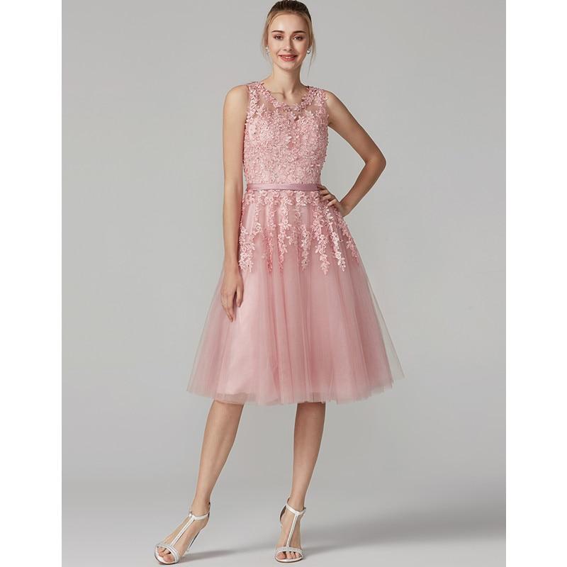 TS Couture vestido De bola ilusión escote té De longitud Tulle ...