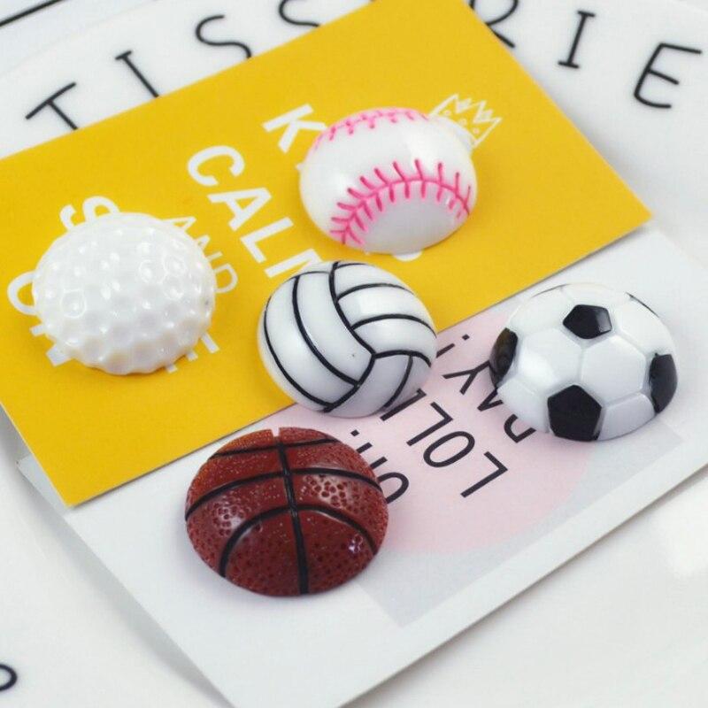 5 шт./компл. Симпатичные Баскетбол волейбол Футбол Бейсбол Гольф магниты на холодильник образования детей игрушки сувенирные настенные Сти...