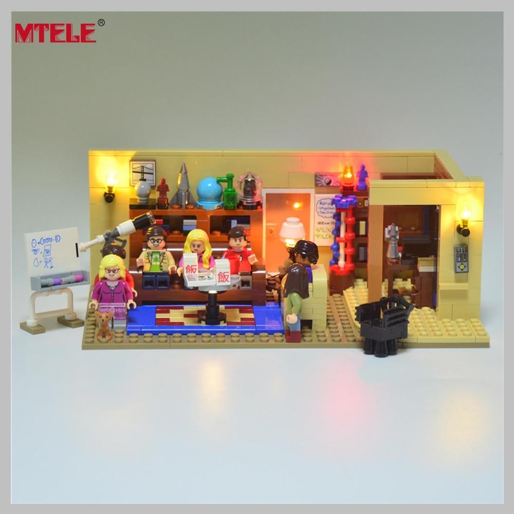 MTELE Brand Led Light Building Blocks Kit Toy For Ideas Series The Big Bang Model Compatible with lego 21302 model 16024 534pcs the big bang set building blocks figure bricks toys for children compatible legoe ideas series 21302