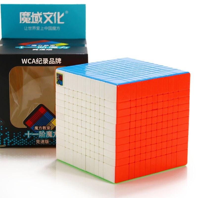 Oyuncaklar ve Hobi Ürünleri'ten Sihirli Küpler'de Moyu Meilong 11x11x11 Stickerless Büküm Hız Yarışma Oyuncaklar Magico Cubo 11x11 Sihirli Küp Eğitici oyuncaklar Hediye'da  Grup 1