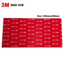 """10 levhalar (4 """"x 8"""") 3M VHB 5608 çift taraflı yapışkan akrilik köpük bant montaj bandı için araba oto, gri 20cm * 10cm * 0.8mm kalın"""