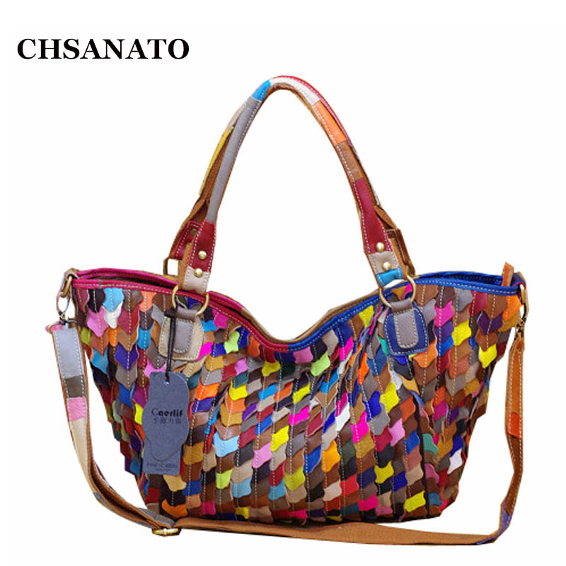 CHSANATO Bohemian Genuine Leather Bags For Women Ruffles Ladies Handbag Shoulder Bag Female Trapeze Tote Bag ColorfulCHSANATO Bohemian Genuine Leather Bags For Women Ruffles Ladies Handbag Shoulder Bag Female Trapeze Tote Bag Colorful