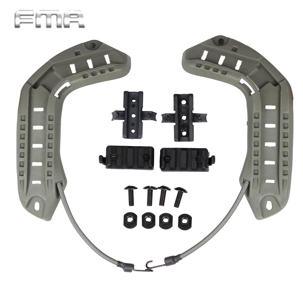 FMA ARC Helmet Side Rails with Lanyard for MICH OPS Core Helmet Tactical Paintball Helmet Accessories