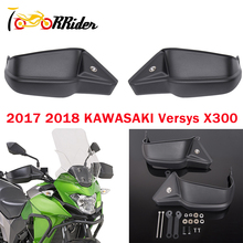 Motorcycle Parts 2Pcs Versys X-300 Hand Guard Grip Shell Protection Handguard Kit For Kawasaki Versys X300 Versys 300 X matte black crash bar engine frame guard protector for 2017 2018 kawasaki versys x300 x 300