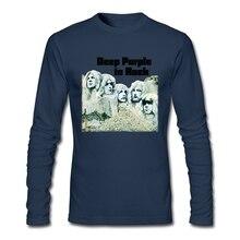 Темно фиолетовый группа футболка Англия музыка рок Мужская футболка тяжелый металл группа высокое качество с длинным рукавом на заказ большой размер Shrits