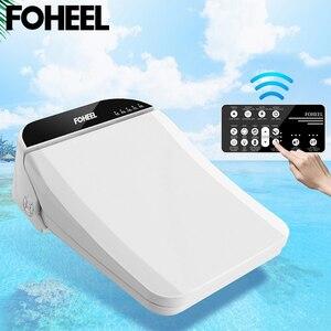 Image 2 - FOHEEL kare akıllı tuvalet oturağı kapağı elektronik bide klozet koltuk ısıtma temiz kuru akıllı tuvalet kapağı banyo için