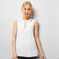 2017 Women Sleeveless Blouse Summer Casual Daily Wearing