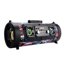 2018 wireless zaino piccola rotonda altoparlanti bazooka Multimedia speaker lettore musicale Boom box sistema audio con radio Fm
