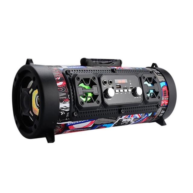 2018 اللاسلكية على ظهره مكبرات الصوت مستديرة صغيرة بازوكا مكبر صوت متعدد الوسائط مشغل موسيقى بوم صندوق نظام الصوت مع راديو Fm