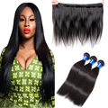 Unprocessed Indian Virgin Hair Straight 4 Bundles Muse Beauty Hair Products Indian Straight Hair Weave Human Hair Extensions