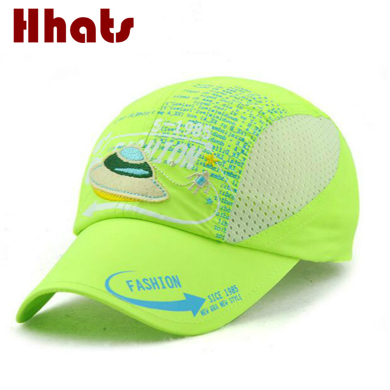 which in shower breathable mesh kids summer   baseball     cap   adjustable outdoor children snapback hat curved boy or girl sun hat