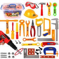 37Pcs Children Pretend & Play Emulational Repair Kit Toy Educational Tool Box for Boys