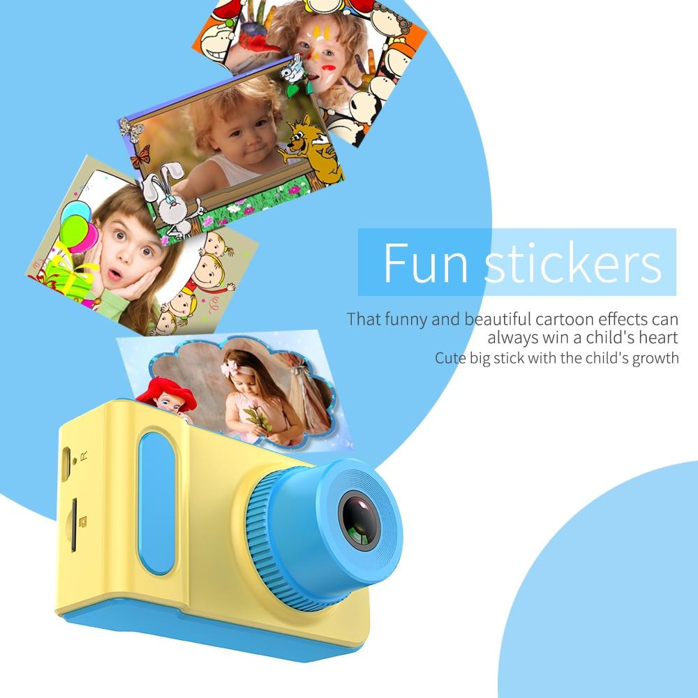Kebidu Mini Digital Camera 2 Inch Cartoon Cute Camera Toys Children Birthday Gift 1080P Toddler Toys camera