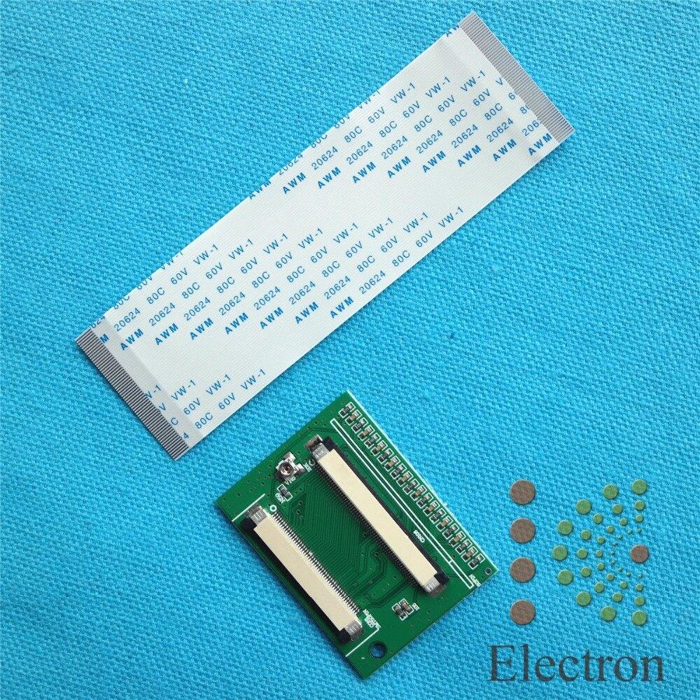 60 broches à 50 Broches ZIF 0.5mm TTL Connecteur Adaptateur Pour HSD070IDW1 HSD080IDW1 LCD