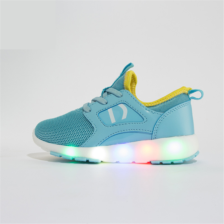 2017 New High Quality Kids Shoes Luminous Light Led Luminous Shines Fashion 7 Color Led Shoes For Kids Girl Sneakers 50Z0075 glowing sneakers usb charging shoes lights up colorful led kids luminous sneakers glowing sneakers black led shoes for boys