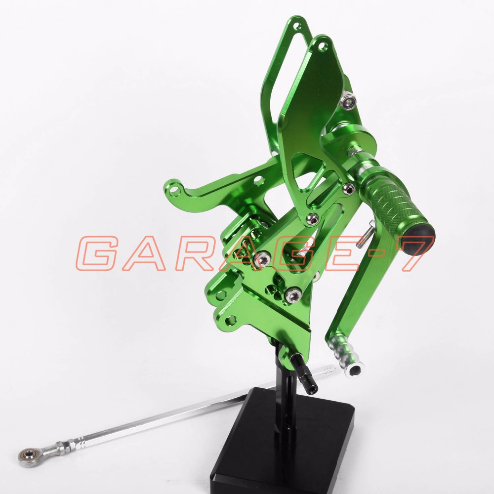 Motorcycle CNC Rear sets Adjustable Foot Pegs Rear For Yamaha YZF R6 2003-2005 Green Motorcycle Foot Pegs Free Shipping Hot Sale