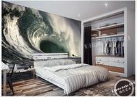 Benutzerdefinierte 3d wallpaper 3d wandbilder wallpaper Nur schöne wellen wellenförmige abgehackt wellen fernseheinstellungswand 3d wallpaper home dekoration