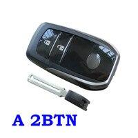 Nieuwe Stijl 2 3 Knoppen Auto Afstandsbediening Case Met Emergency Key Fit Voor Toyota Smart Key Cover