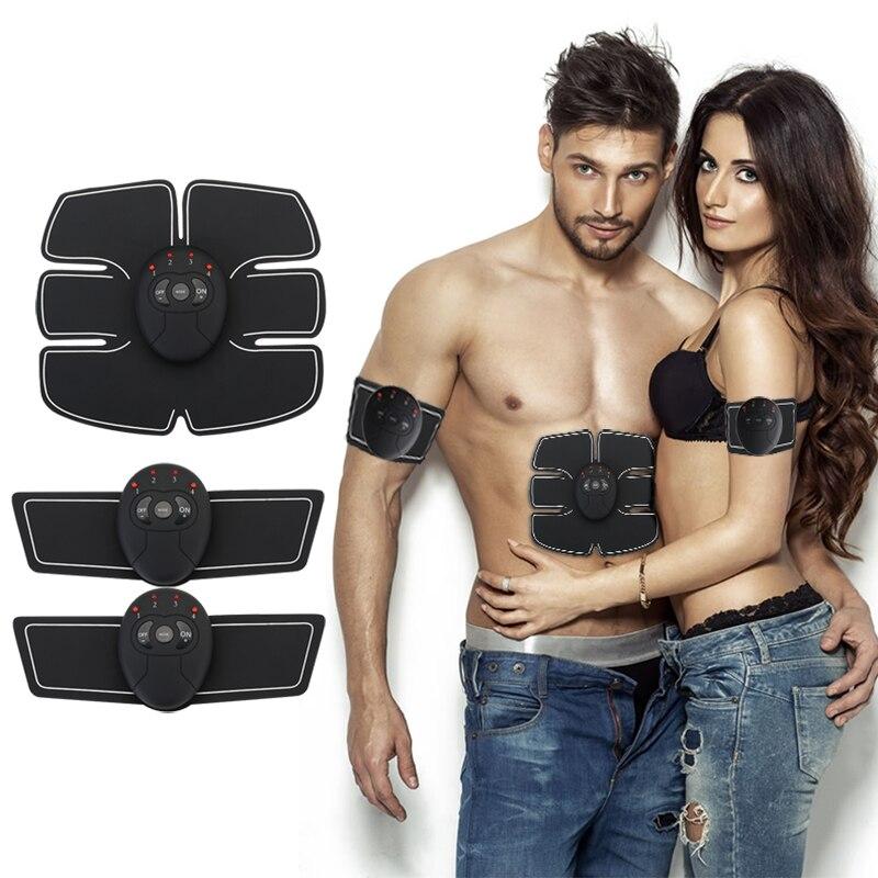 Drop shipping Abdominale machine électrique stimulateur musculaire ABS Formateur ems remise en forme perte de Poids Corps minceur De Massage avec la boîte