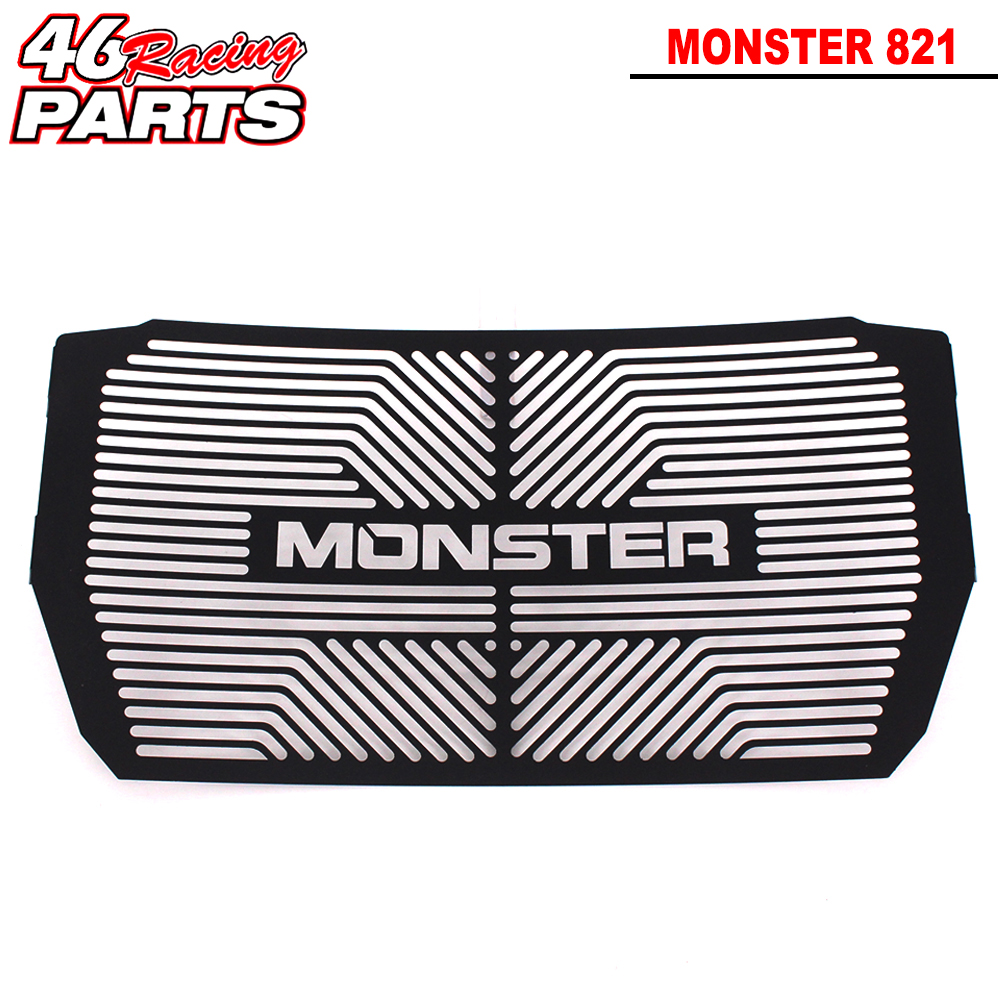 Black Motorcycle Accessories Radiator Guard Protector Grille Grill Cover For DUCATI Monster 821/1200/1200S 2014 2015 2016 motorcycle radiator grille grill guard cover protector golden for kawasaki zx6r 2009 2010 2011 2012 2013 2014 2015