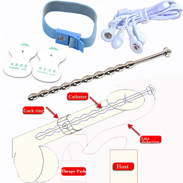 Hot Sale Upgrade Stainless Steel Catheter Urethral Sound Electro Shock Penis Cock Rings Medical Themed Of Sex Toys For Men