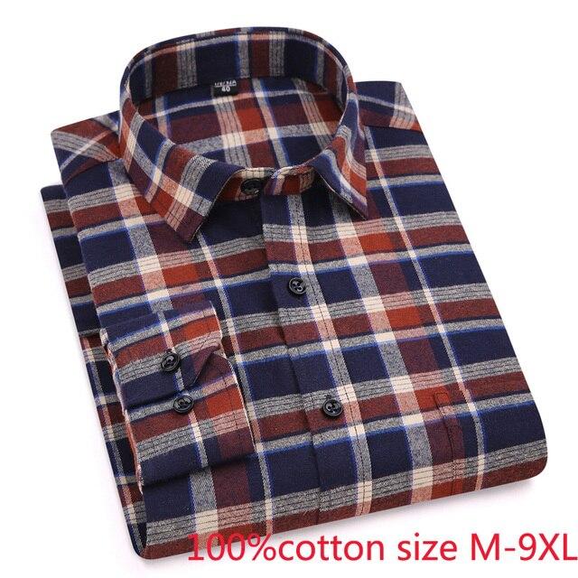 Chegada nova Manta Primavera outono formal dos homens Extra Grande de Algodão Puro Camisas longas da luva de alta qualidade plus size 4XL-6XL7XL 8XL 9XL