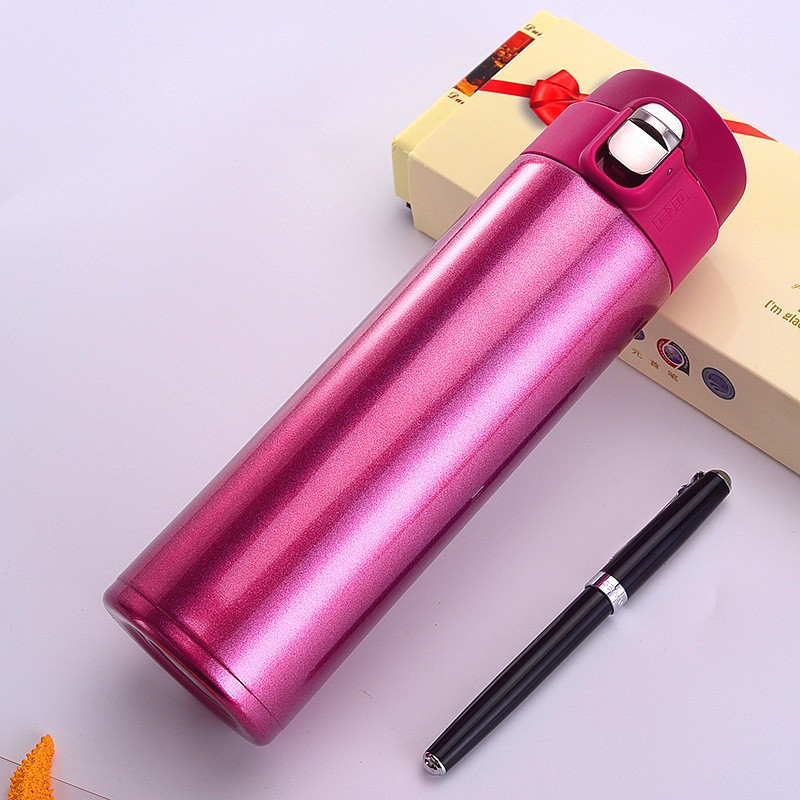 red stainless steel thermos four color water bottle thermos three colors fashion termica garrafa good chose