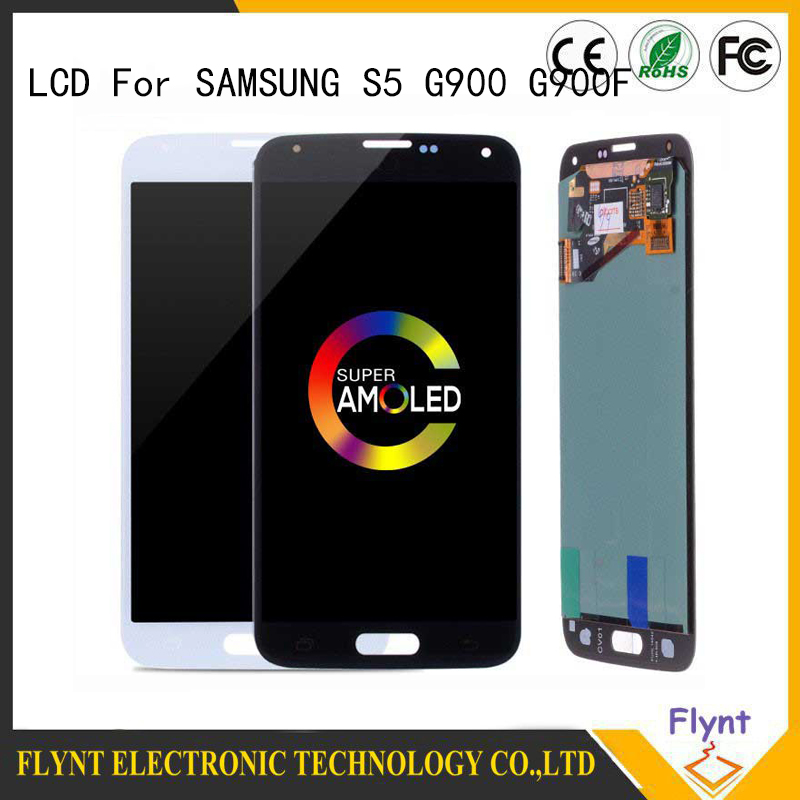 2019 5.1'' SUPER AMOLED Replacement LCD with Home Button Assembly for SAMSUNG <font><b>Galaxy</b></font> <font><b>s5</b></font> <font><b>Display</b></font> <font><b>SM</b></font>-<font><b>G900</b></font> G900F Touch Screen image